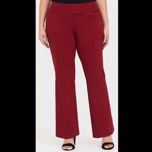 Torrid Red Relaxed Trouser Pant